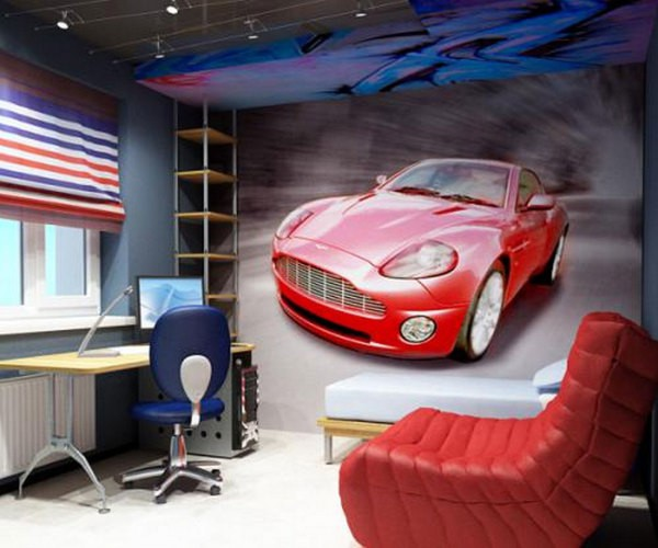 Спортивный яркий автомобиль – вот что понравиться мальчику подростку