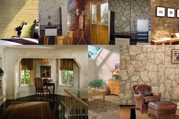 Стеновые панели в различных интерьерах