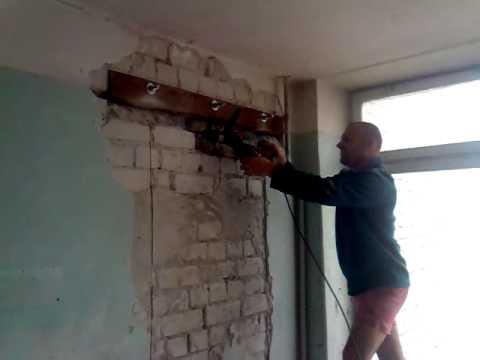 Укрепление проема в кирпичной стене