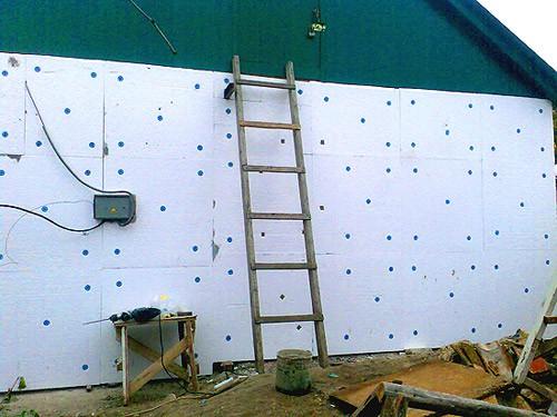 Утепление деревянных стен пенополистиролом