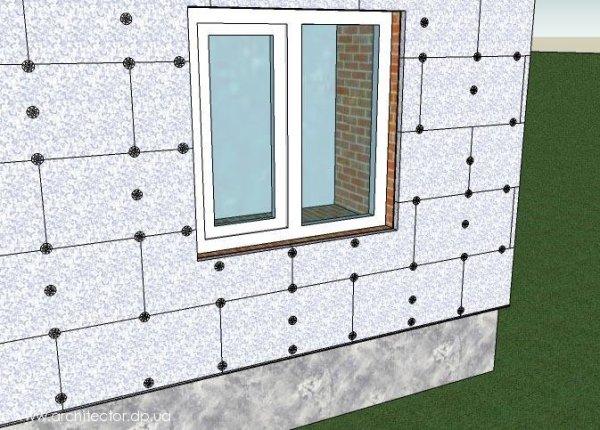 Утепление стен пенополистиролом снаружи
