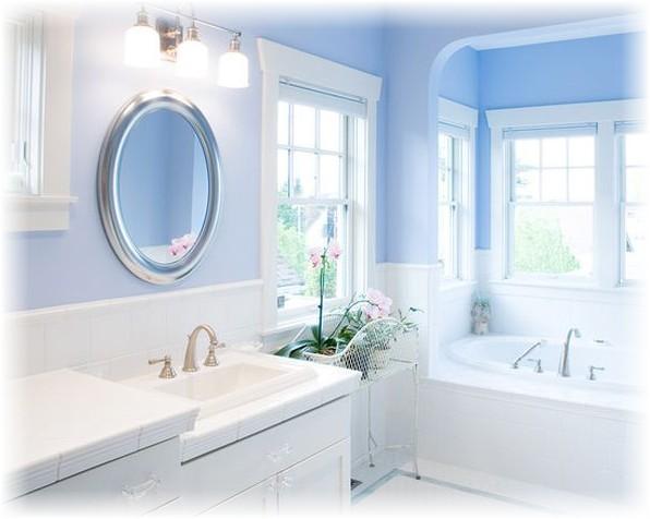 Ванная комната после окрашивания