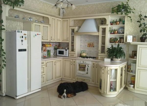 Виниловые обои в кухне