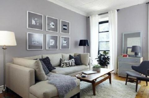 Бледные оттенки в оформлении зала