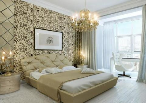 Декоративная отделка в спальне