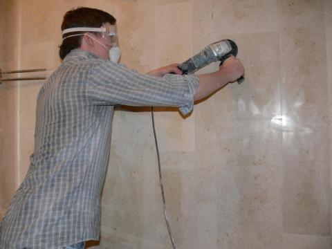 Как полировать мраморные стены