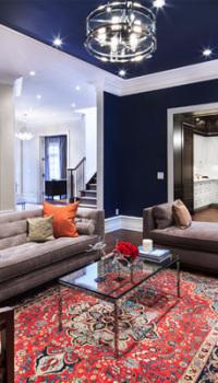 Комбинация цветов стен в гостиной