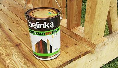 Краска-лазурь для деревянного крыльца