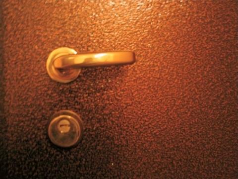 Мы видим пример металлической двери, окрашенной полимерной краской.
