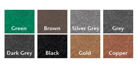 Мы видим пример разных цветов молотковой краски
