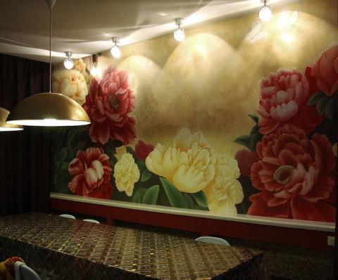 Оформление стены из гипсокартона