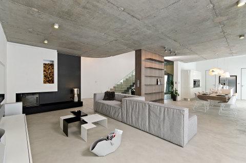 Отделка потолка «под бетонные перекрытия» по гипсокартонной обшивке