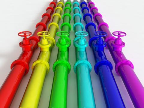 Полимерные краски подходят для любых металлических поверхностей и считаются очень износостойкими.