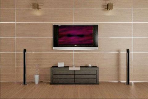 Применение панелей в отделке гостиной