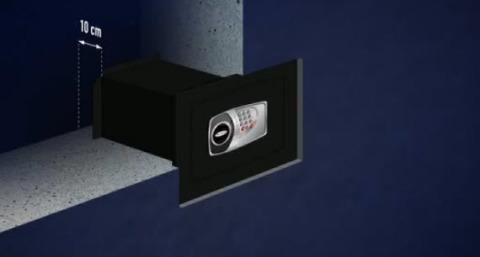 Размещение сейфа в стене
