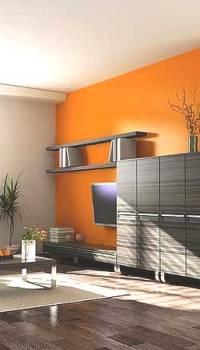 Увеличение объема зала оранжевым цветом