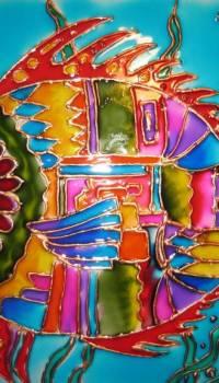 В детской комнате хорошо будут смотреться яркие разноцветные витражи, созданные своими руками вместе с ребёнком