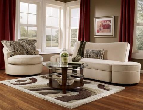 Выбираем мебель и ковер для гостиной