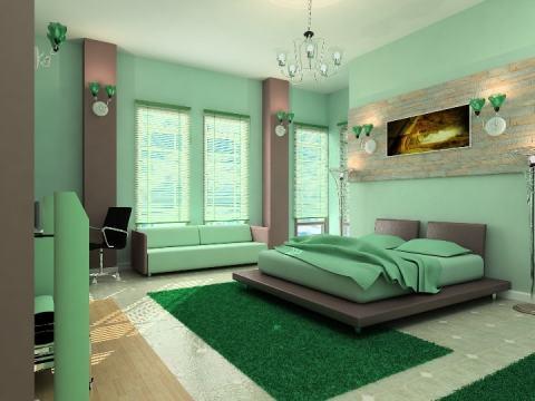 Выбираем зеленый цвет для спальни