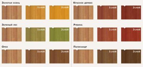 Выбор цвета покрытия