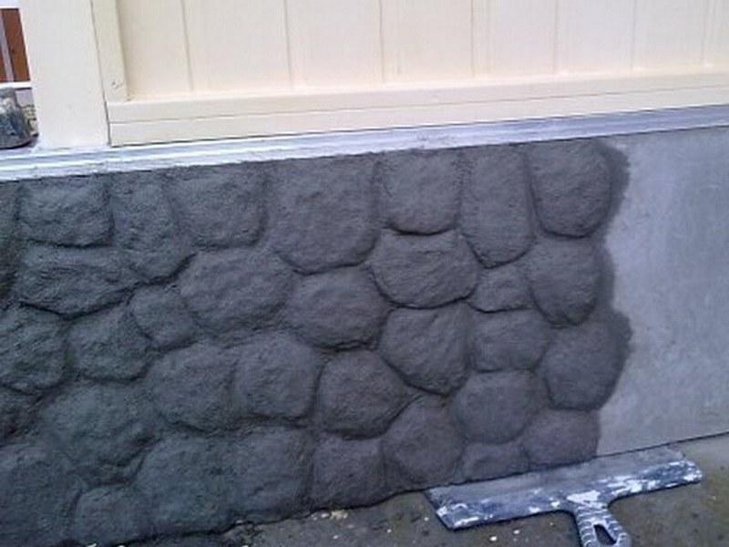 Цоколь дома под камень своими руками 40