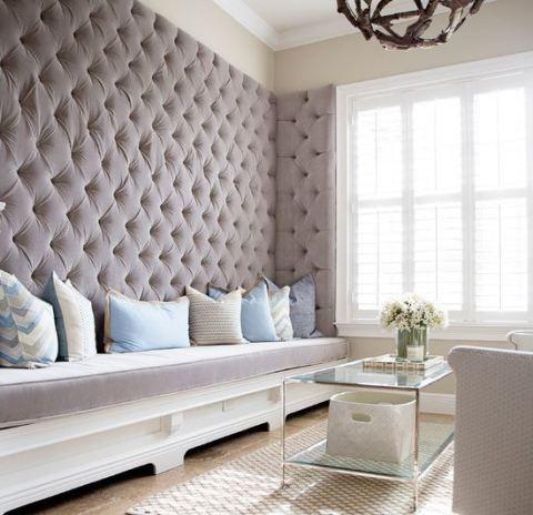Декорирование тканью в виде коврового покрытия