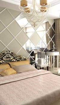 Декорирование зеркалами спальни