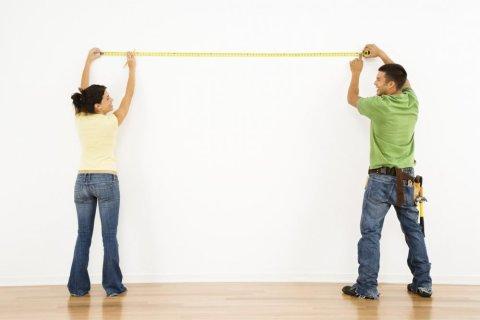Измерение размеров помещения