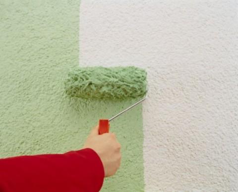Нанесение декоративной краски в один слой