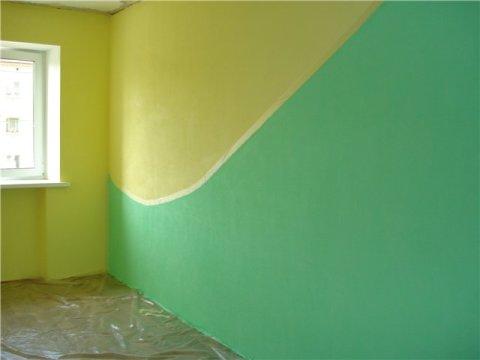 Оригинальная окраска стен