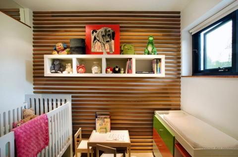 Отделка детской комнаты шпоном