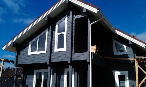 Покраска дома силикатной краской