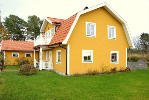 Покраска дома цементной краской
