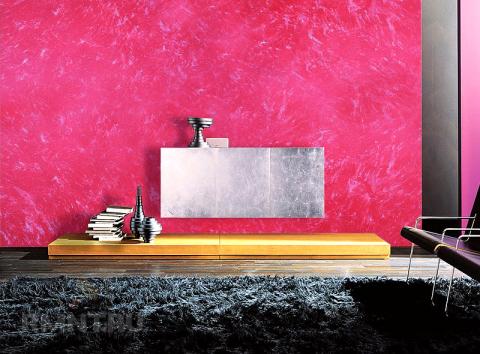 Покраска помещения в перламутровый цвет
