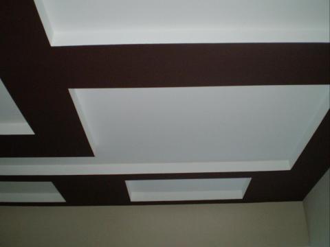 Покрытие потолка красителем с ПВА