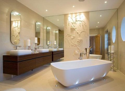 Покрытие ванной минеральной штукатуркой