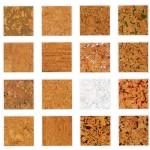 Пробковые панели могут быть различной текстуры и цвета