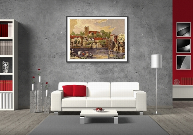Интерьеры с картинами постерами