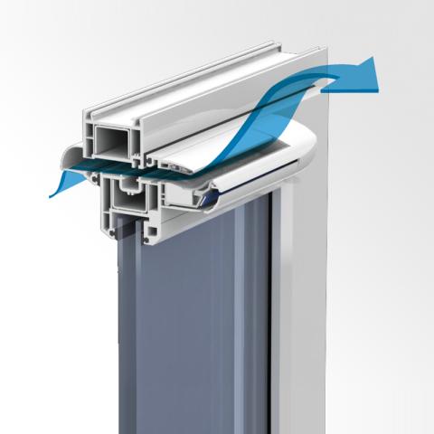 Устройство вентиляционного клапана на окнах