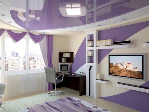 Вариант покраски стен в квартире