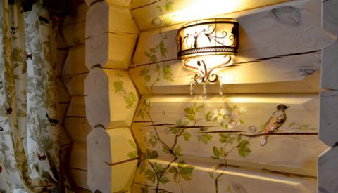Варианты декорирования древесиной