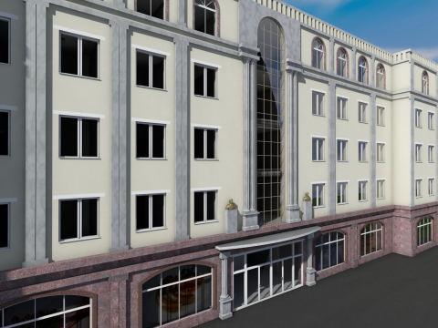 Выделяем вертикальные части строения