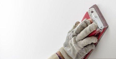 Зачистка шпаклевки ручным шкуротером