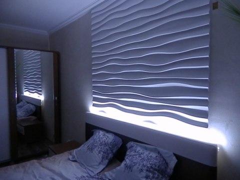 3D панно для оформления спальни