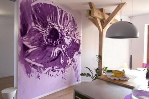 Акриловая краска в дизайне помещения