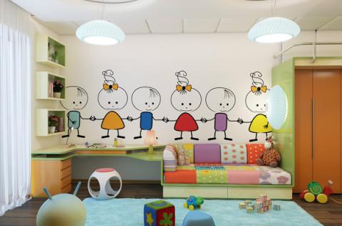Детские виниловые наклейки на стену