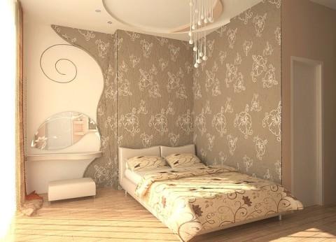 Для маленькой комнаты выбираем не большой рисунок