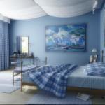 Драпировка потолка в спальне