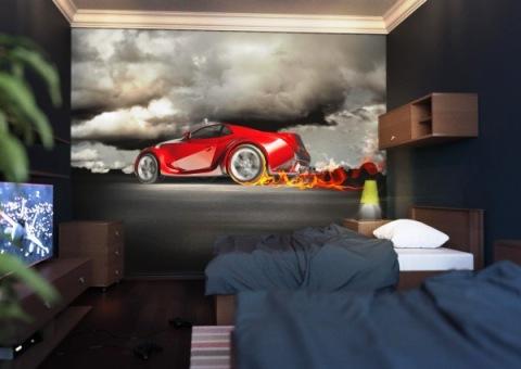 Фотообои в комнату для подростка по автомобильной тематике