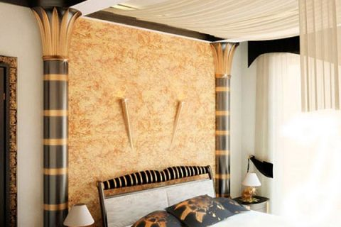 Использование светлых тонов пробковых обоев в интерьере спальни